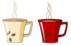 Tazza di caffè con un vapore caldo Immagine Stock