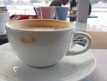 Tazza di caffè con una macchia Fotografia Stock Libera da Diritti