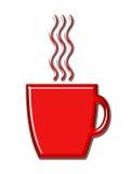 Tazza di caffè con vapore Fotografia Stock