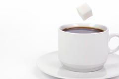 Tazza di caffè con zucchero Immagini Stock Libere da Diritti