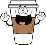 Tazza di caffè da portar via del fumetto Fotografie Stock Libere da Diritti