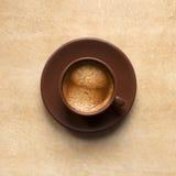Tazza di caffè del caffè espresso Fotografia Stock