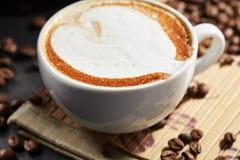 Tazza di caffè del Capuccino Fotografia Stock