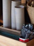 Tazza di caffè del cartone del Libro Bianco Fotografia Stock