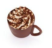 Tazza di caffè del cioccolato Fotografia Stock