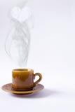 Tazza di caffè del cuore Immagini Stock
