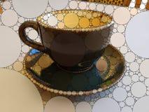 Tazza di caffè del mosaico Fotografia Stock