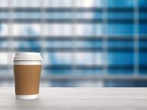 Tazza di caffè della carta in bianco Immagini Stock