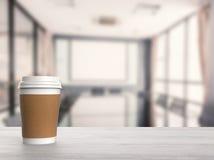 Tazza di caffè della carta in bianco Fotografia Stock