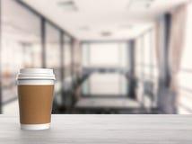 Tazza di caffè della carta in bianco Immagini Stock Libere da Diritti