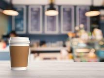 Tazza di caffè della carta in bianco Fotografie Stock