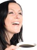 Tazza di caffè della holding della donna Immagini Stock Libere da Diritti