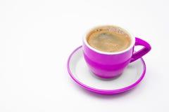 Tazza di caffè dentellare isolata Fotografie Stock