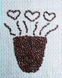 Tazza di caffè di amore Fotografia Stock