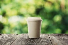 Tazza di caffè di carta fotografia stock