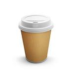 Tazza di caffè di carta immagine stock
