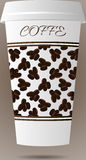Tazza di caffè di carta Immagini Stock