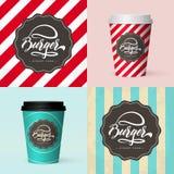 Tazza di caffè di carta isolata realistica di qualità premio Fotografia Stock