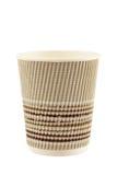 Tazza di caffè di carta isolata su fondo bianco Fotografia Stock Libera da Diritti