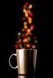 Tazza di caffè di Natale Fotografie Stock Libere da Diritti