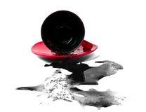 Tazza di caffè di Overthrowned Fotografia Stock Libera da Diritti