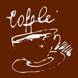 Tazza di caffè di vettore Fotografie Stock Libere da Diritti