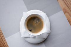 Tazza di caffè di vista superiore Fotografia Stock Libera da Diritti
