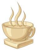 Tazza di caffè dorata Immagini Stock Libere da Diritti