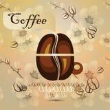 Tazza di caffè e chicchi di caffè Immagine Stock