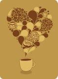 Tazza di caffè e dolci Immagine Stock