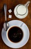 Tazza di caffè e latte Fotografie Stock