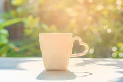 Tazza di caffè e progettazione di amore Immagine Stock Libera da Diritti