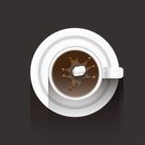 Tazza di caffè e un suger Fotografia Stock Libera da Diritti