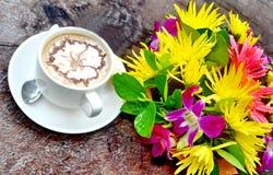 Tazza di caffè fresca Immagini Stock