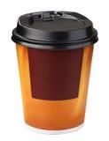 Tazza di caffè a gettare Fotografia Stock