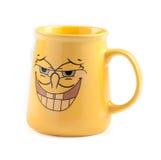 Tazza di caffè gialla Fotografie Stock