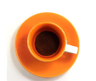 Tazza di caffè grezzo Immagine Stock Libera da Diritti
