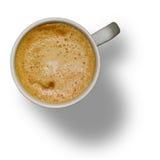 Tazza di caffè isolata con il percorso di residuo della potatura meccanica Fotografia Stock
