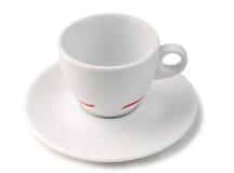 Tazza di caffè isolata su priorità bassa bianca Fotografie Stock