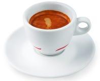 Tazza di caffè isolata su priorità bassa bianca Fotografie Stock Libere da Diritti