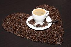 Tazza di caffè marrone Fotografia Stock