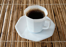 Tazza di caffè nero Immagine Stock