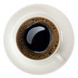 Tazza di caffè nero Fotografie Stock Libere da Diritti