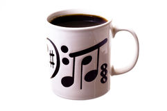 Tazza di caffè nero. fotografie stock libere da diritti