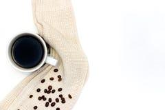 Tazza di caffè o tè calda con il pullover Fotografia Stock