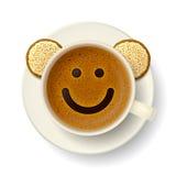 Tazza di caffè per il buon umore Immagini Stock Libere da Diritti