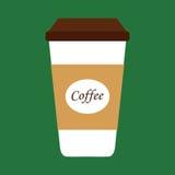 Tazza di caffè piana dell'icona Fotografia Stock Libera da Diritti