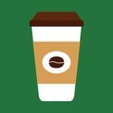 Tazza di caffè piana dell'icona Fotografia Stock