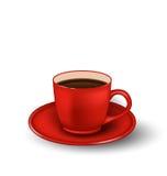 Tazza di caffè realistica della foto Immagine Stock