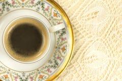 Tazza di caffè romantica, vista superiore Fotografie Stock Libere da Diritti